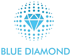 Blue Diamond logo symbolising it's vision & mission