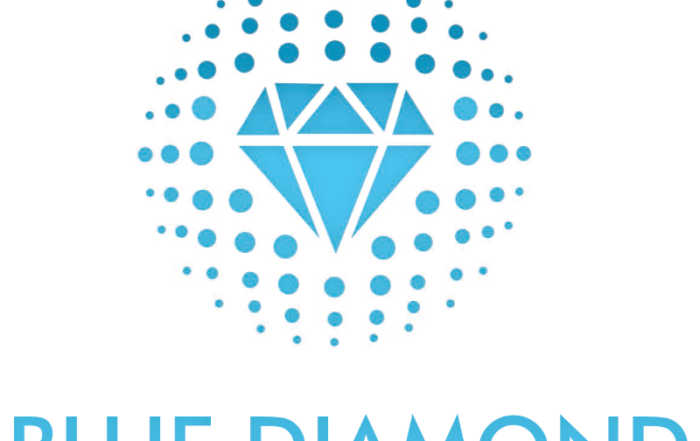 Blue Diamond logo to present vision and mission