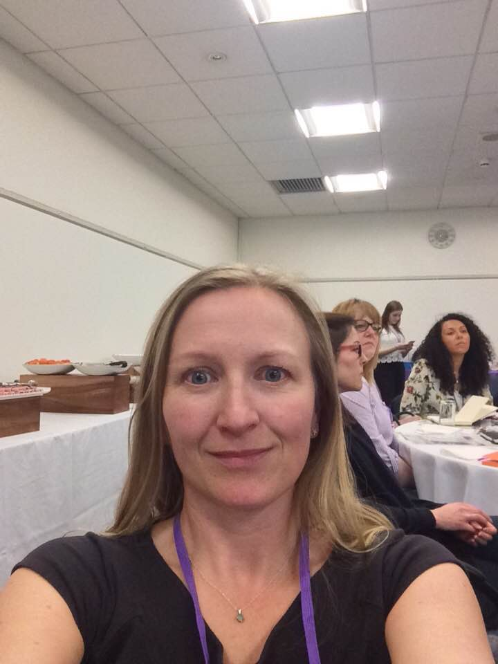 Selfie of Melanie at a networking event